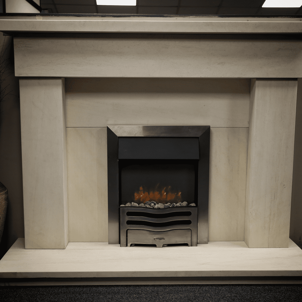 The Bann Natural Limestone Fireplace