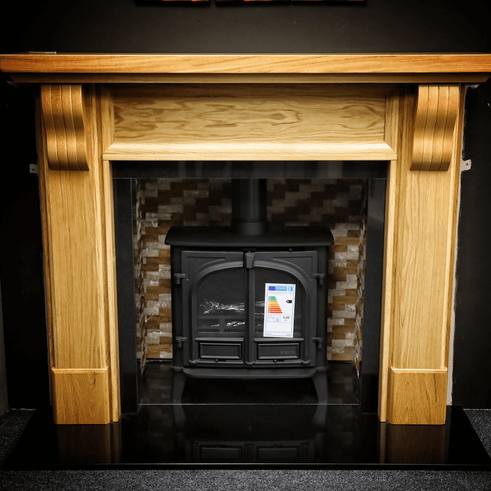 The Chism Solid Oak Fireplace