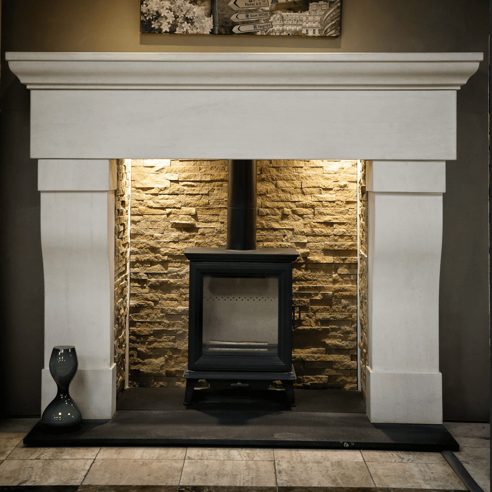 The Foyle Natural Limestone Fireplace