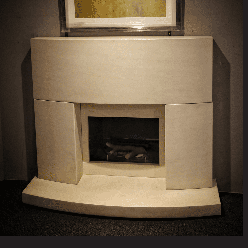 The Shane Natural Limestone Fireplace
