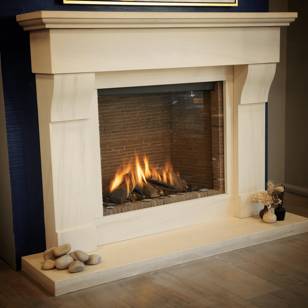The Shannon Limestone Fireplace