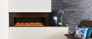 Showing an electric fire